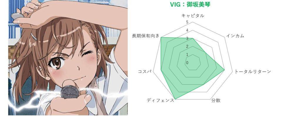 御坂美琴とVIGの評価