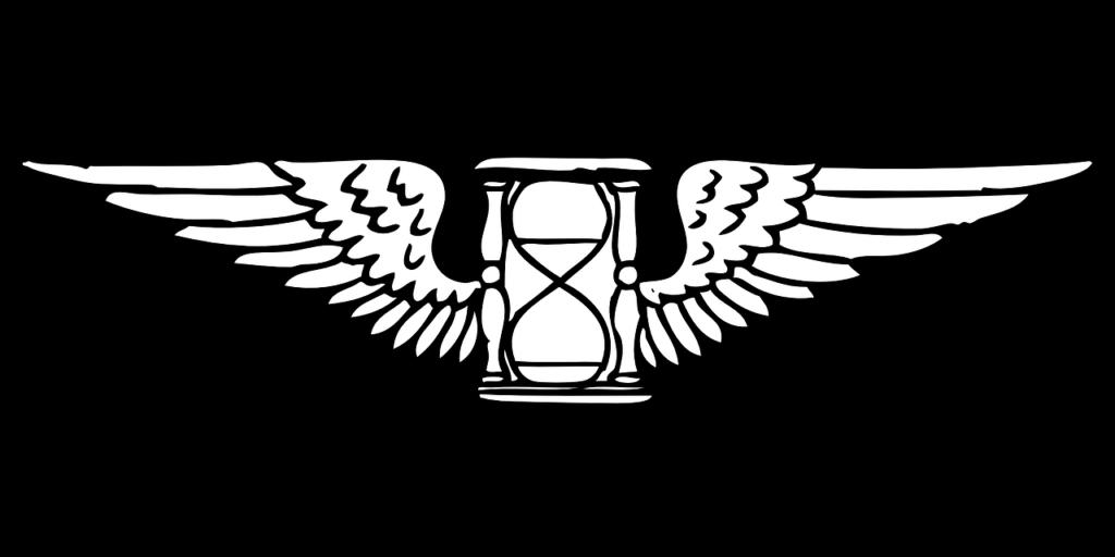 翼の生えた砂時計