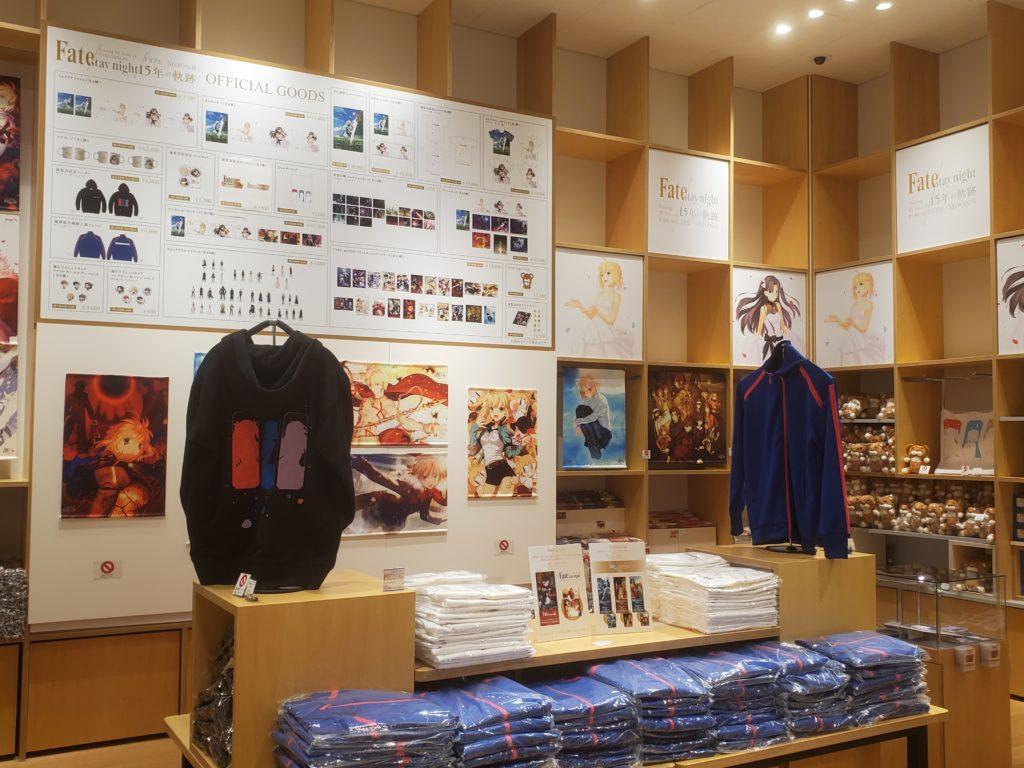TYPE-MOON15周年記念展の物販コーナー