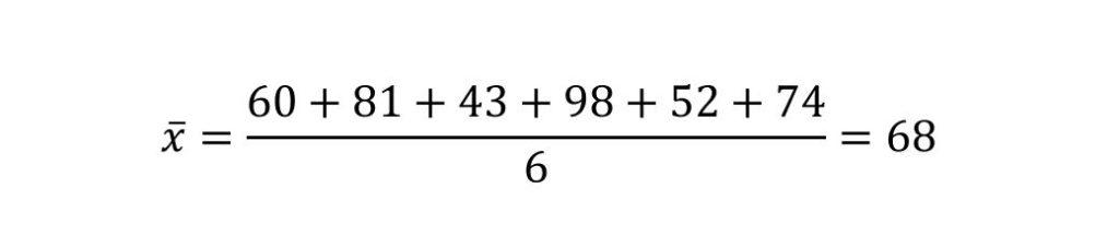 平均値の計算式