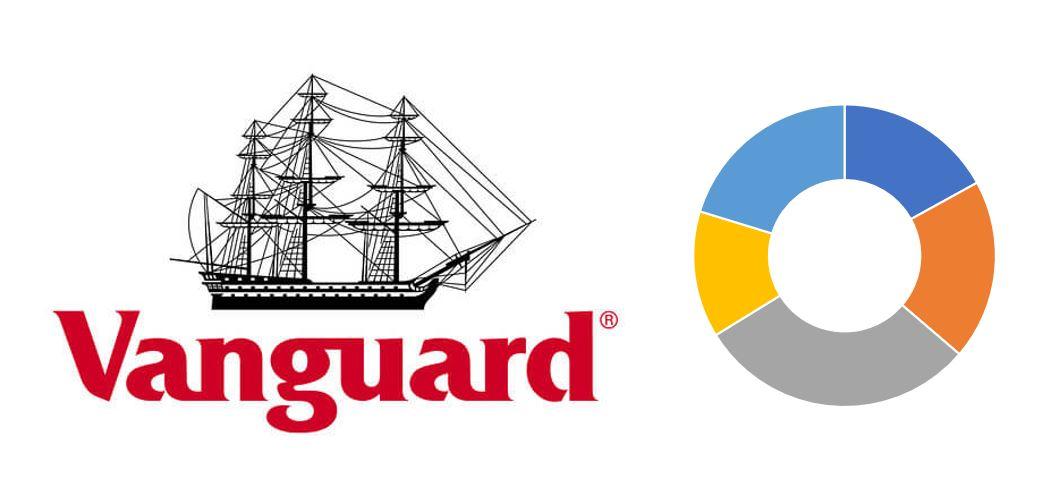 バンガードのロゴとポートフォリオ