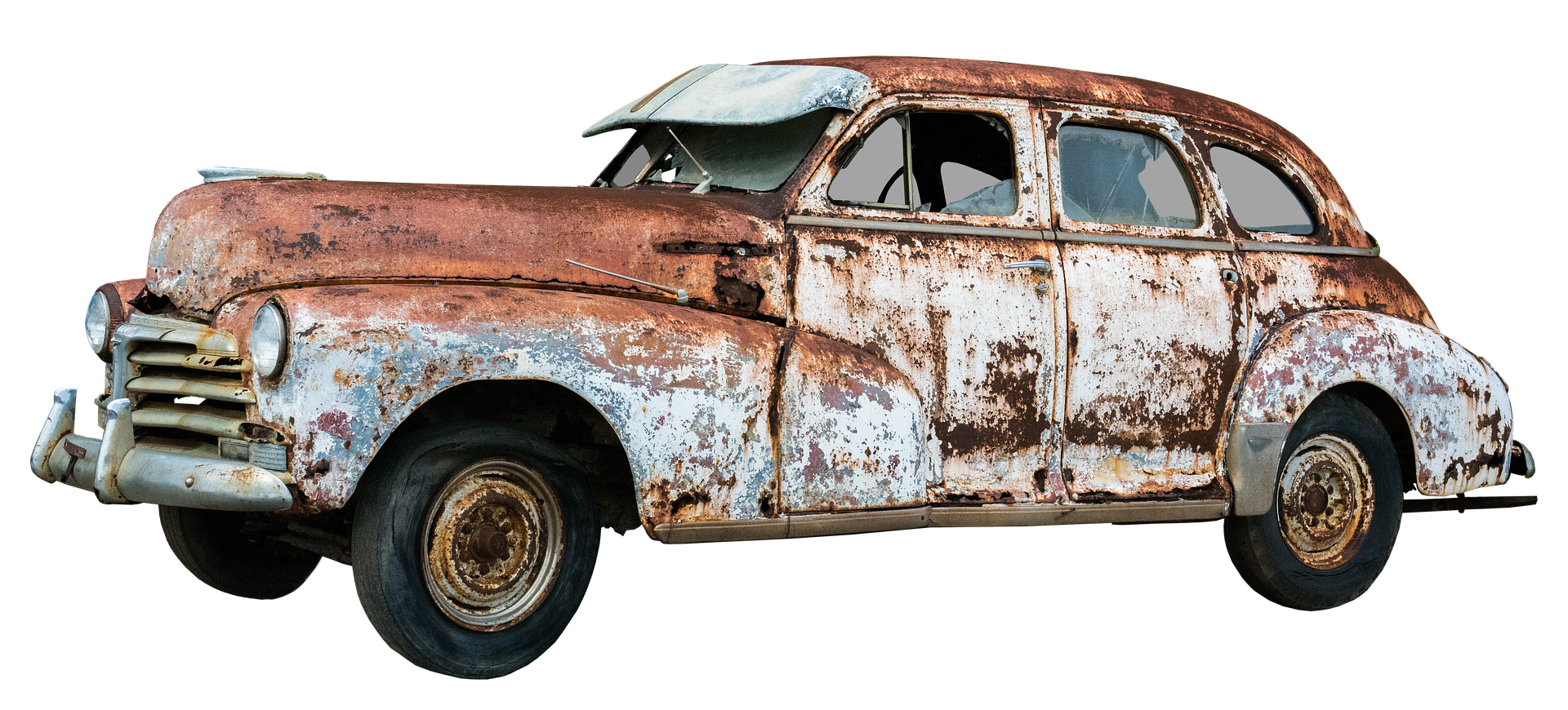 錆び付いた旧車