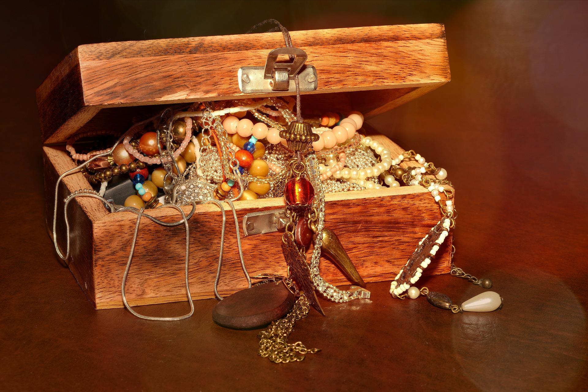 宝箱と財宝