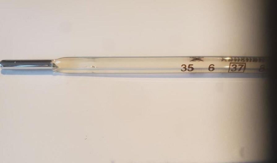 水銀の体温計