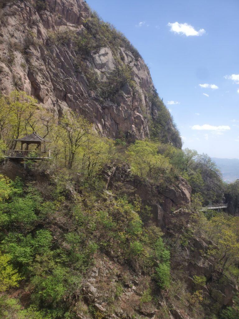 鳳凰山の桟道