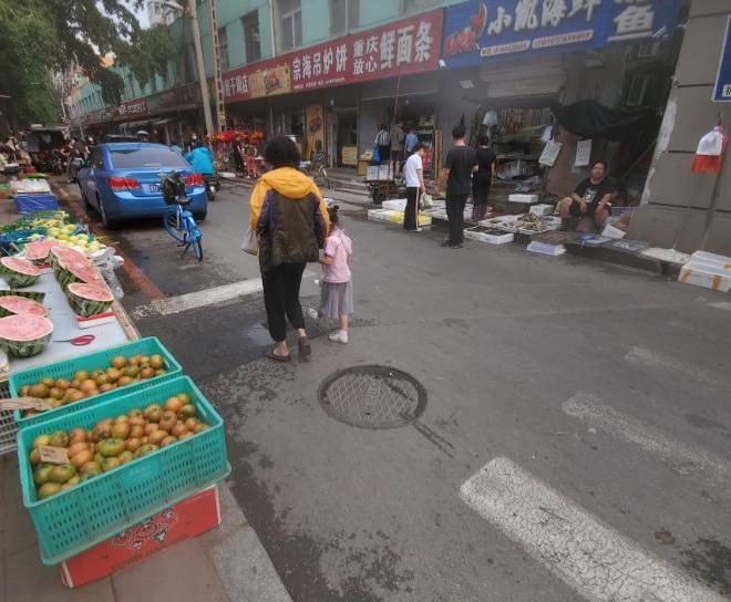 中国の路上市