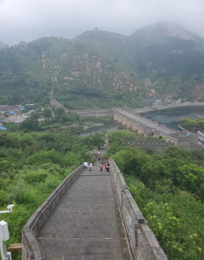 九門口長城の風景