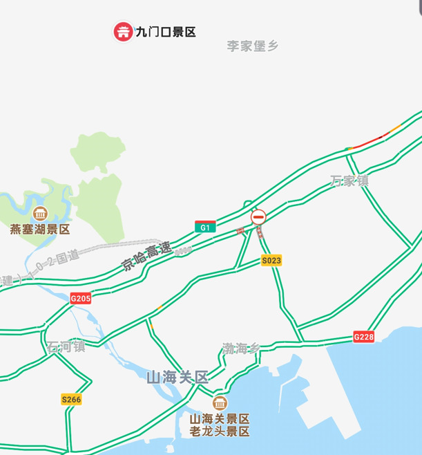 九門口長城の地図
